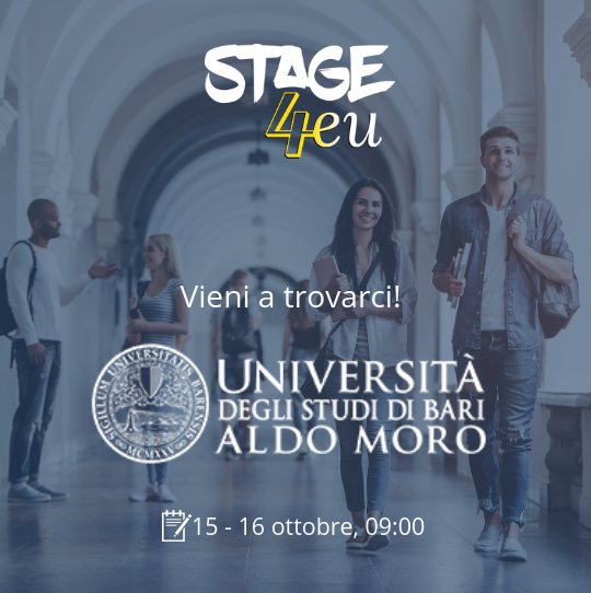 Stage4eu al Campus Career Days dell'Università di Bari